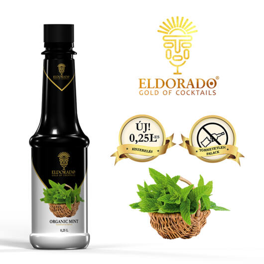 Eldorado Természetes Menta szirup 0.25 liter