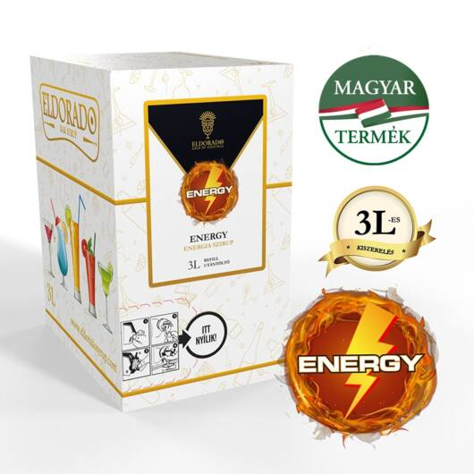 Bag in Box Energy szirup 3 liter