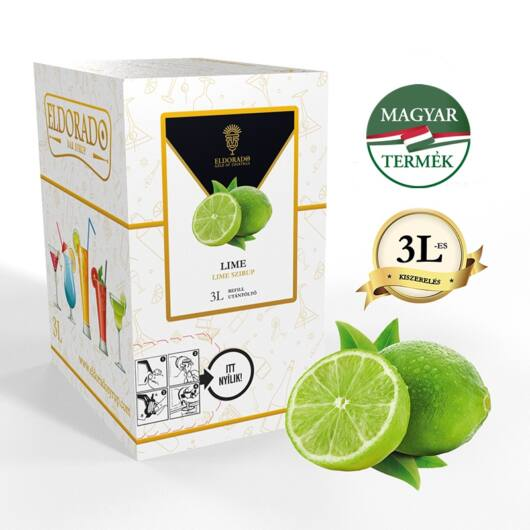 Bag in Box lime szirup 3 liter