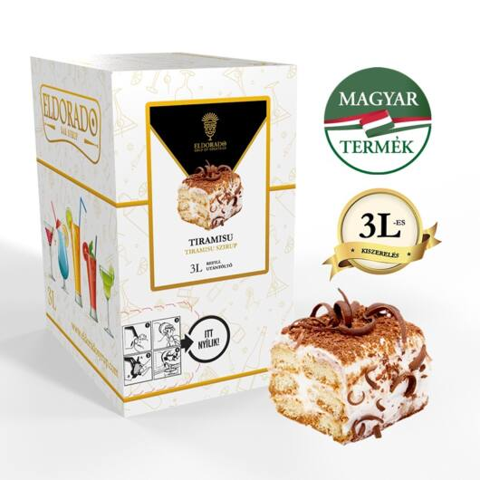 Bag in Box tiramisu szirup 3 liter