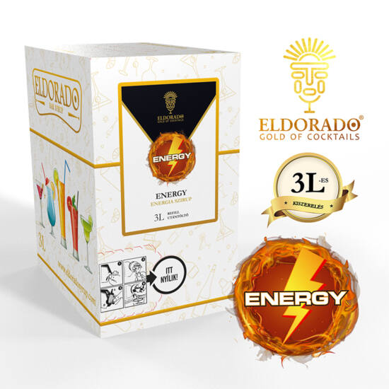 Bag in Box Energy szirup 3 liter
