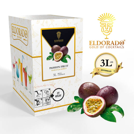 Bag in Box Passion Fruit - Maracuja szirup 3 liter