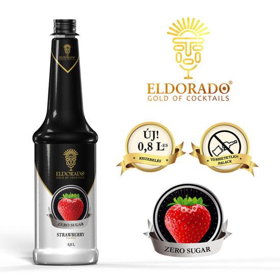 Eldorado Eper zero cukormentes szirup 0.8 liter