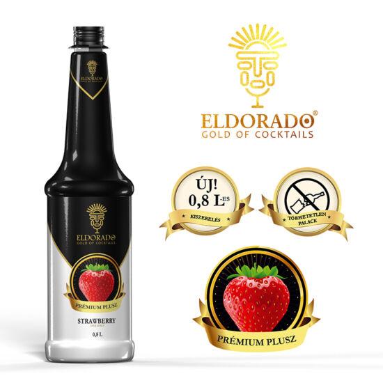 Eldorado Prémium Plusz Eper pürészirup 0.8 liter