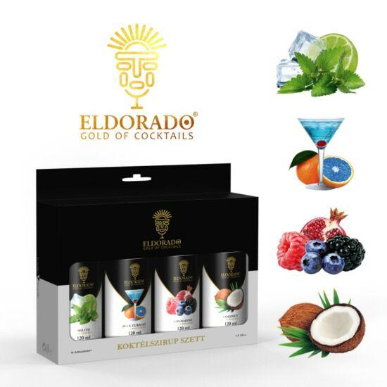 Eldorado Koktél szett Best I. 4x120 ml (Kókusz, Grenadine, Blue Curaccao, Mojito)