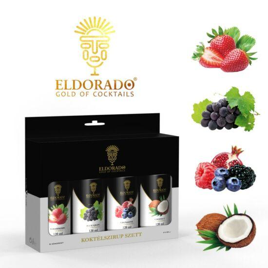 Eldorado Koktél szett Best II. 4x120 ml (Kókusz, Grenadine, Kékszőlő, Eper)