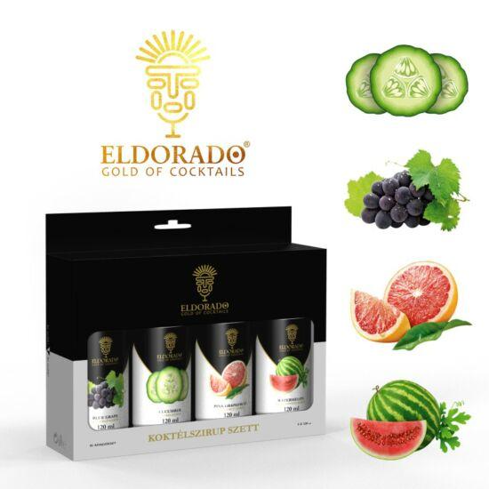 Eldorado Koktél szett Best III. 4x120 ml (Uborka, Kékszőlő, Grapefruit, Görögdinnye)