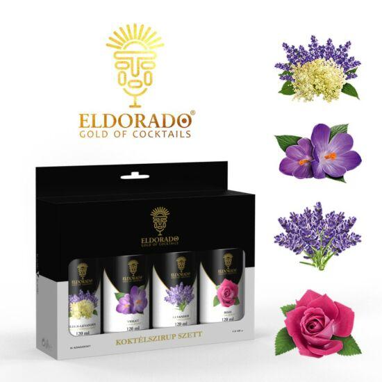 Eldorado Limonádé szett Virágos ízek. 4x120 ml (Bodza, Levendula, Ibolya, Rózsa)
