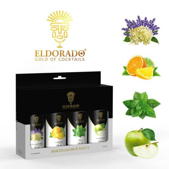 Eldorado Limonádé szett nyári kedvencek 4x120 ml (Zöldalma, Bodza-levendula, Limonádé,Menta)