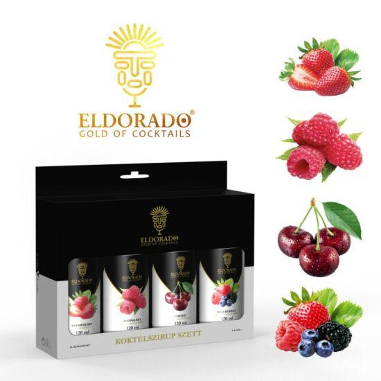 Eldorado Limonádé szett Piros bogyós gyümölcsök 4x120 ml (Erdei gyümölcs, Cseresznye, Málna, Eper)