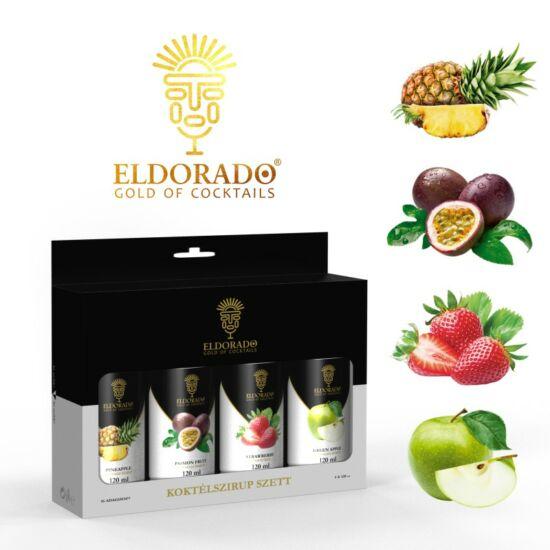 Eldorado Limonádé szett nyári kedvencek III. 4x120 ml (Zöldalma, Eper, Maracuja, Ananász)